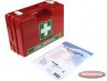 First aid kit with wallmount