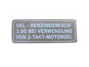 Puch benzine mix sticker wit Duitse versie