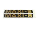 Zijkap sticker set Maxi S goud-zwart