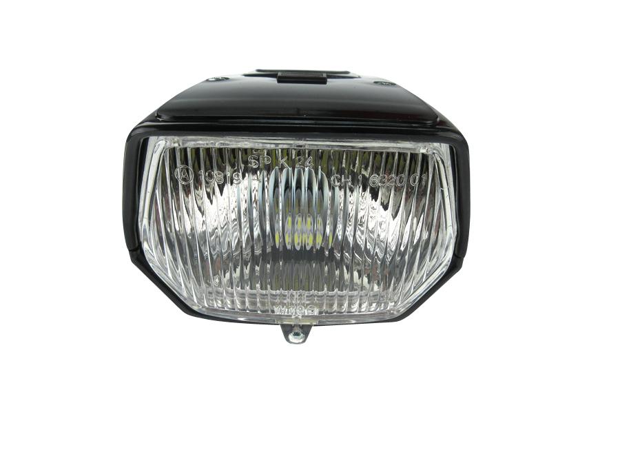 Scheinwerfer eckig schwarz LED kaufen für Puch Mofa?