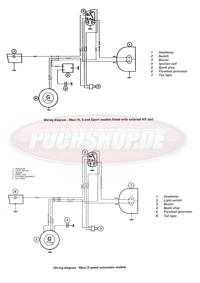 Puch Wiring Diagram from www.puchshop.de